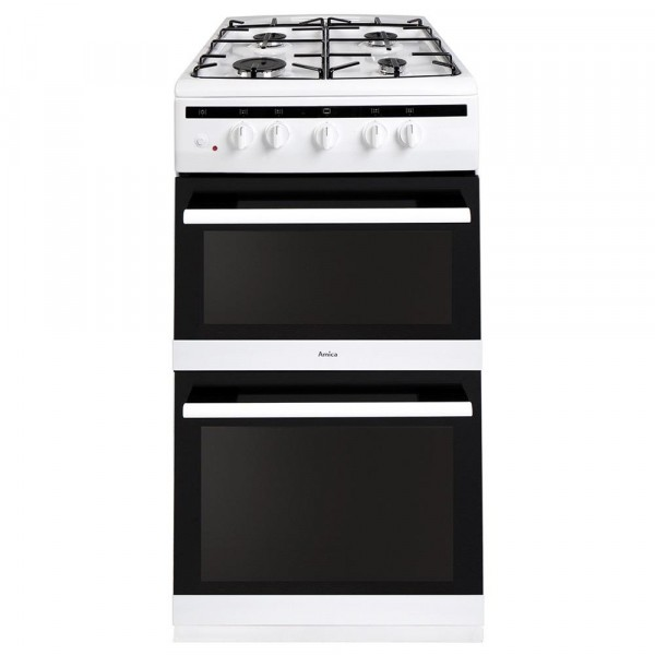 Amica AFG5500WH Gas Cooker with Double Oven
