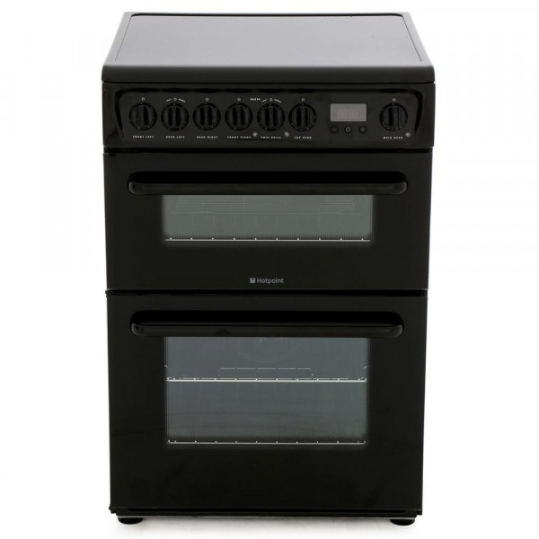 Hotpoint HAE60KS Ceramic Electric Cooker with Double Oven