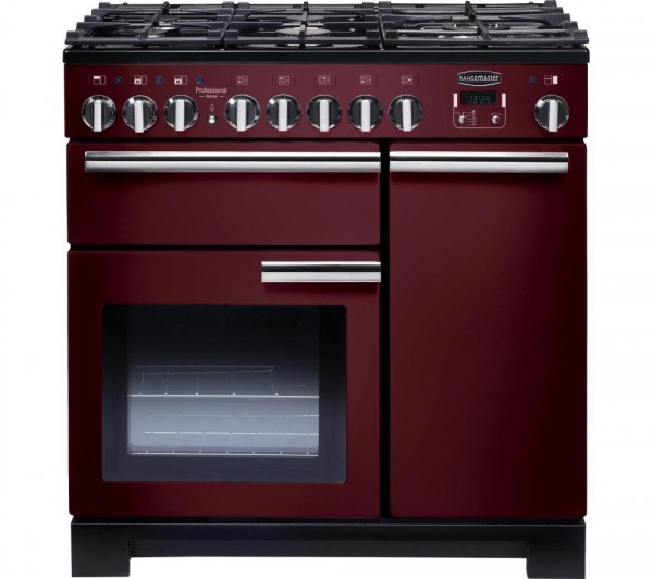 Rangemaster PDL90DFFCY/C Professional Deluxe Cranberry 90cm Dual Fuel Range Cooker