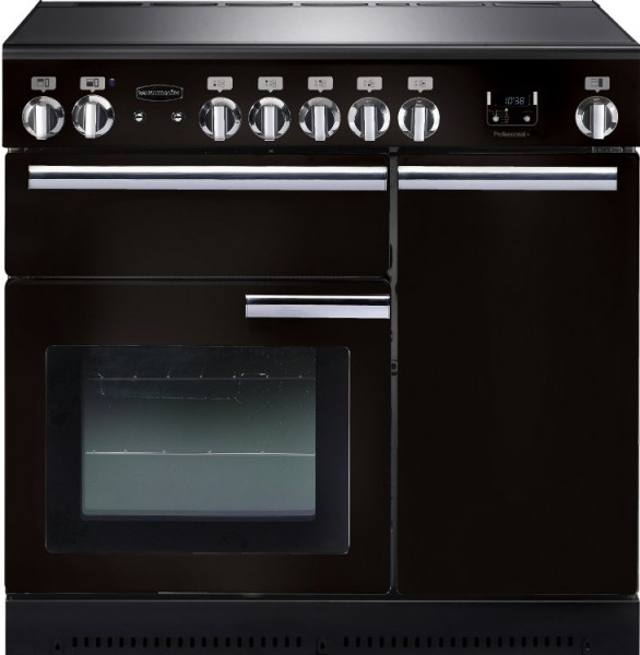 Rangemaster PROP90EIGB/C Professional Plus Gloss Black 90cm Electric Induction Range Cooker