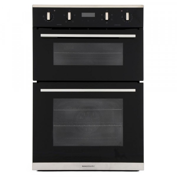 Rangemaster RMB9045BL/SS Stainless Steel Double Built In Electric Oven