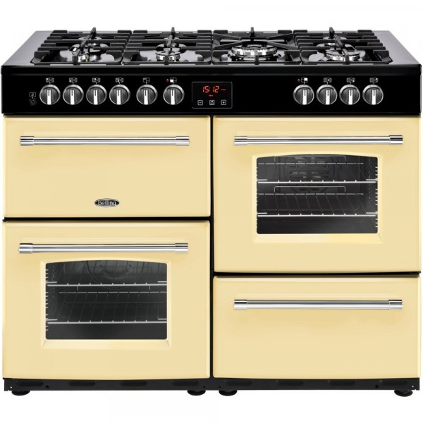 Belling Farmhouse 110DF Cream 110cm Dual Fuel Range Cooker