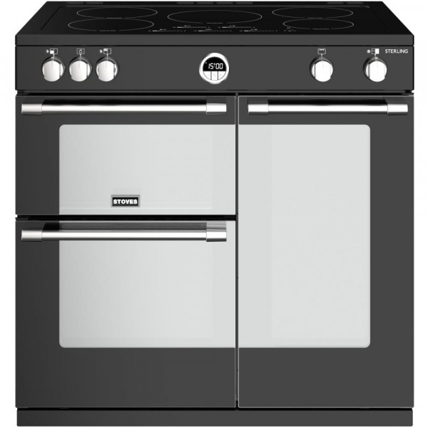 Stoves Sterling S900Ei Black 90cm Electric Induction Range Cooker