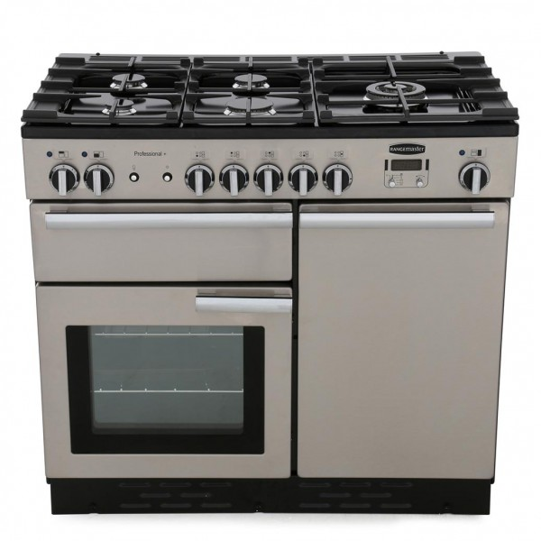 Rangemaster PROP100DFFSS/C Professional Plus Stainless Steel 100cm Dual Fuel Range Cooker