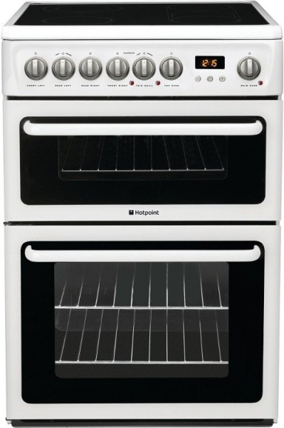 Hotpoint HAE60PS Ceramic Electric Cooker with Double Oven