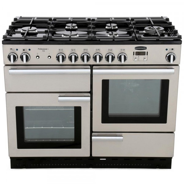 Rangemaster PROP110DFFSS/C Professional Plus Stainless Steel 110cm Dual Fuel Range Cooker