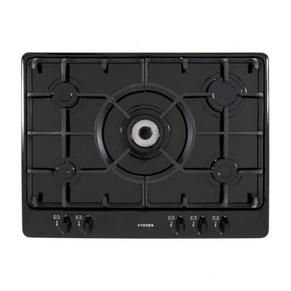 Stoves SGH700C Black 5 Burner Gas Hob