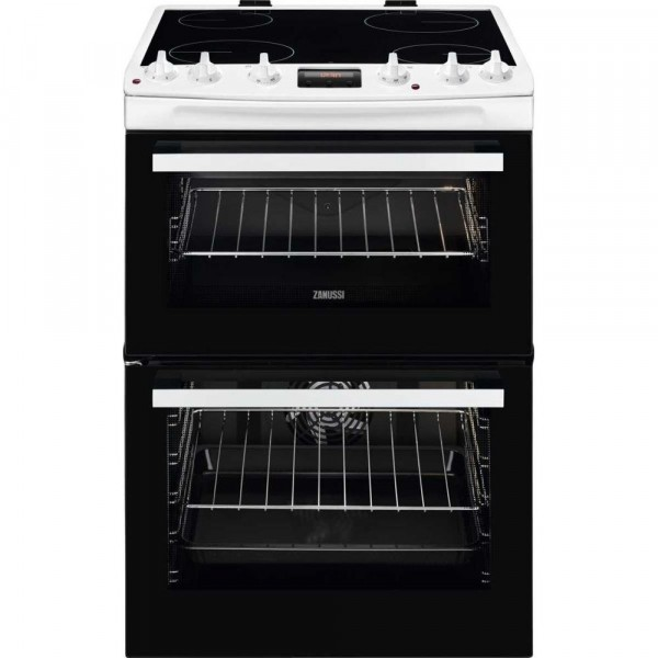 Zanussi ZCV66370WA Ceramic Electric Cooker with Double Oven