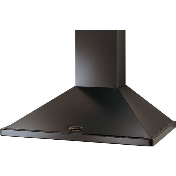 Rangemaster LEIHDC110BC Black with Chrome Trim 110cm Chimney Hood