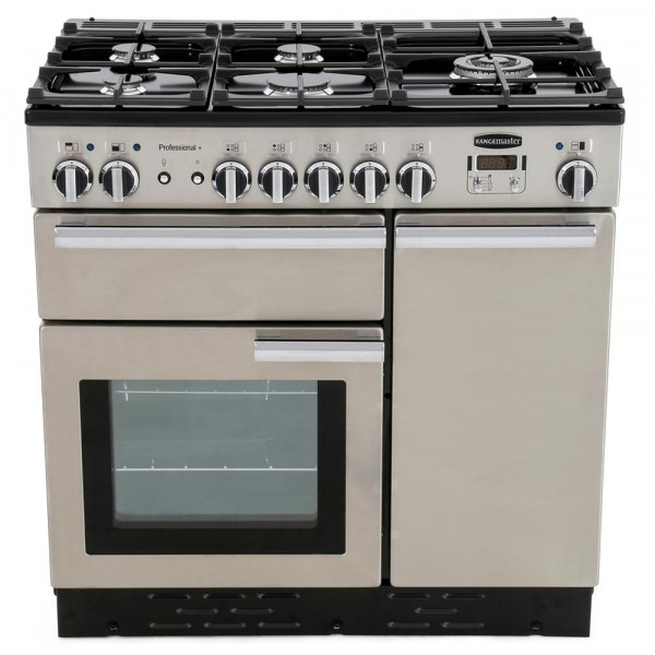 Rangemaster PROP90DFFSS/C Professional Plus Stainless Steel 90cm Dual Fuel Range Cooker