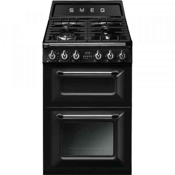 Smeg Victoria TR62BL Dual Fuel Cooker with Double Oven