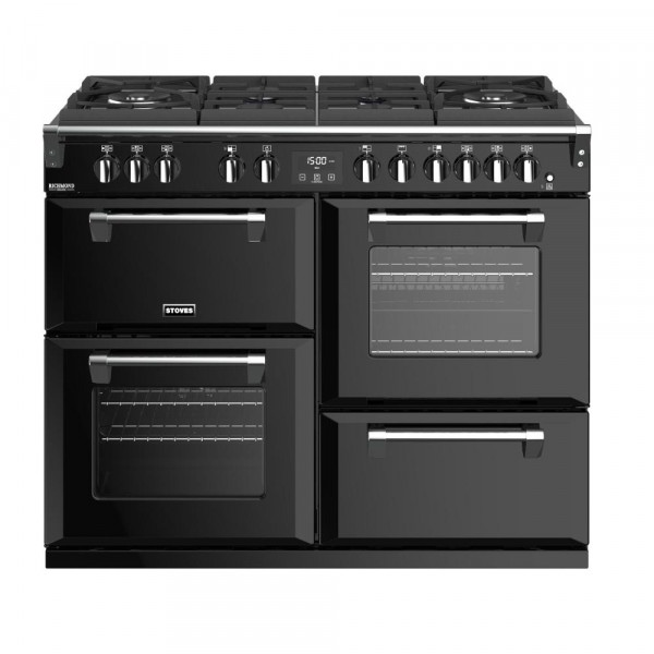 Stoves Richmond Deluxe S1100DFGTG Black 110cm Dual Fuel Range Cooker