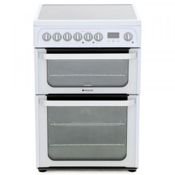 Hotpoint HUE61PS Electric Cooker with Double Oven