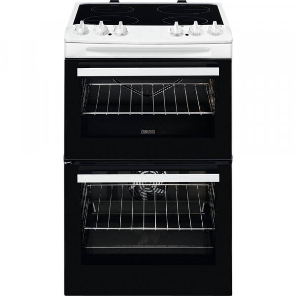 Zanussi ZCV46050WA Ceramic Electric Cooker with Double Oven