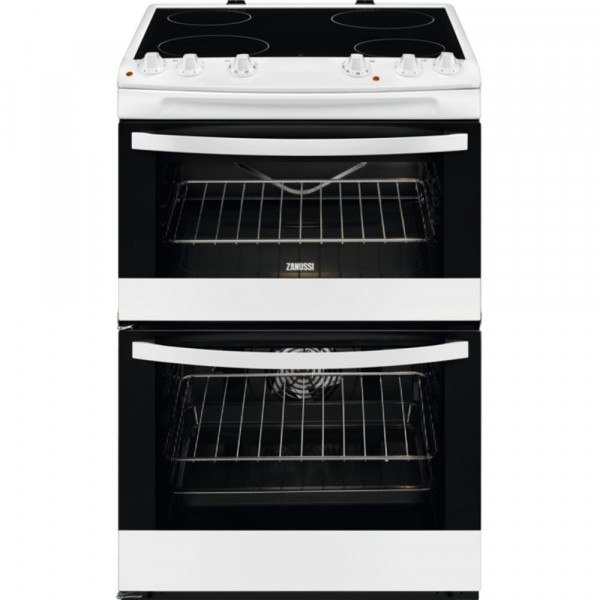 Zanussi ZCV66078WA Ceramic Electric Cooker with Double Oven