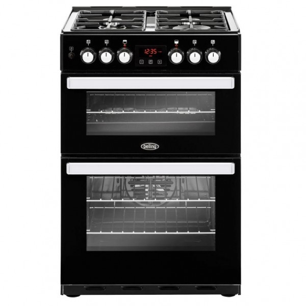 Belling Cookcentre 60DF Black Dual Fuel Cooker
