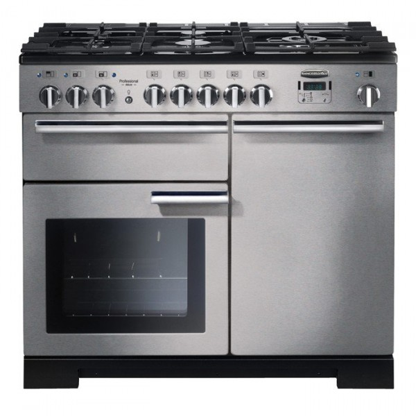 Rangemaster PDL100DFFSS/C Professional Deluxe Stainless Steel 100cm Dual Fuel Range Cooker0
