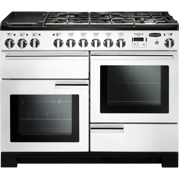 Rangemaster PDL110DFFWH/C Professional Deluxe White 110cm Dual Fuel Range Cooker