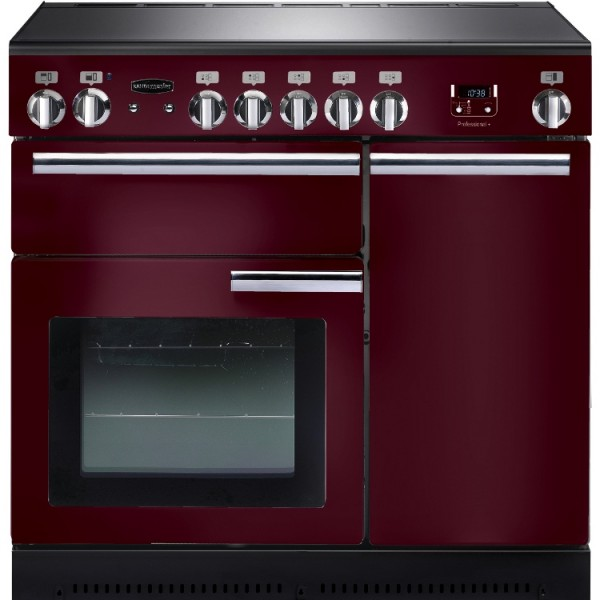 Rangemaster PROP90EICY/C Professional Plus Cranberry 90cm Electric Induction Range Cooker