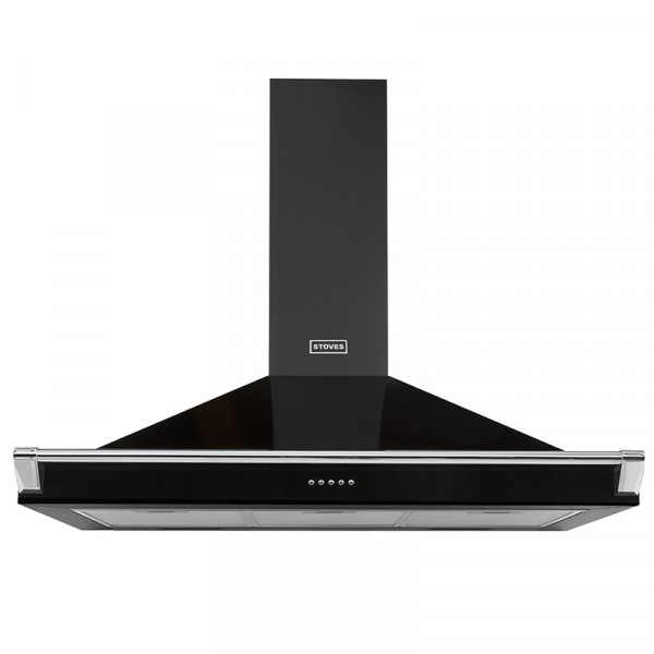 Stoves S900 Richmond Cooker Hood With Rail In Black 444410243