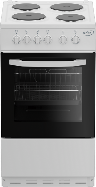 Zenith ZE503W 50cm Single Oven Electric Cooker Solid Plate Hob Launceston