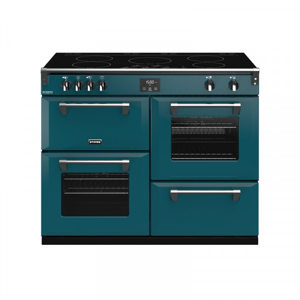 Stoves RIDXS1100EICBKT Richmond Deluxe Range Cooker in Kingfisher Teal 444410994 Launceston Cornwall Devon Southwest