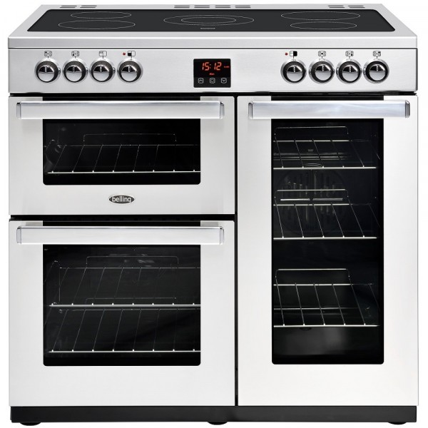 Belling Cookcentre 90E 90cm Professional Range Cooker In Stainless Steel 444444072