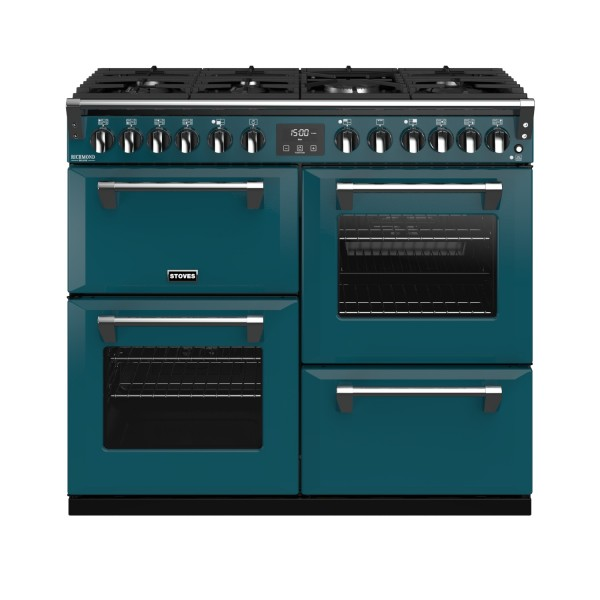 Stoves RIDXS1000DFCBKT Richmond Deluxe Range Cooker in Kingfisher Teal 444410940 Launceston