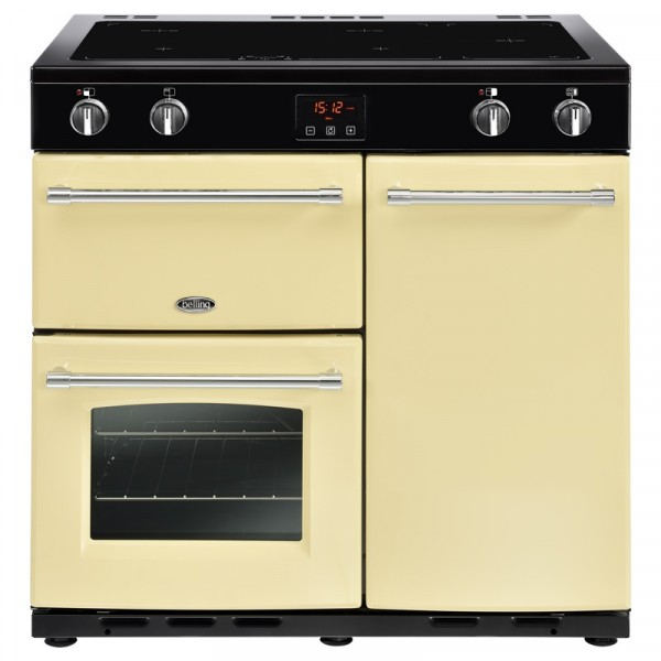 Belling Farmhouse 90ei Cream 90cm Range Cooker 444444132