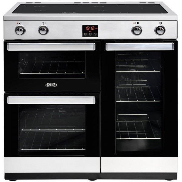 Belling Cookcentre 90ei Stainless Steel Range Cooker 444444079
