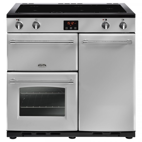 Belling Farmhouse 90ei Silver 90cm Range Cooker 444444131