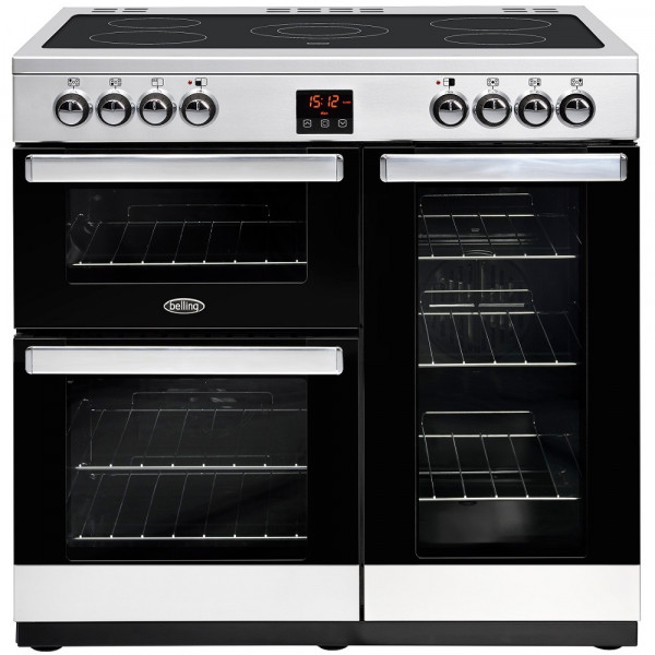 Belling Cookcentre 90e 90cm Range Cooker In Stainless Steel 444444073