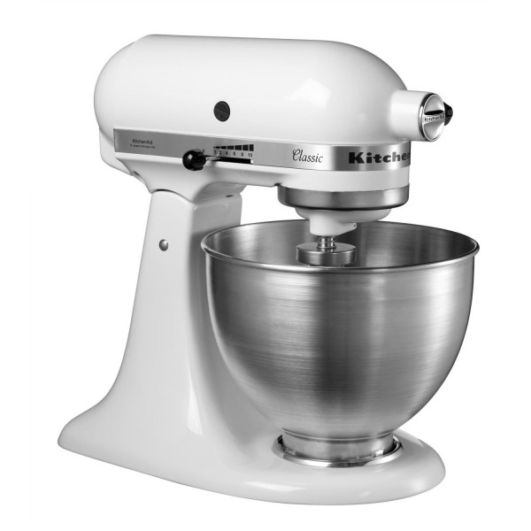 KitchenAid 5K45SSBWH White Stand Mixer