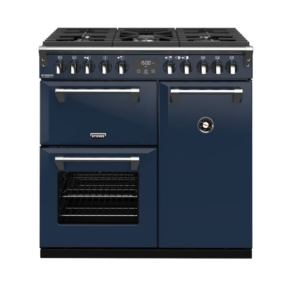 Stoves RIDXS900DFCBMB Richmond Deluxe Range Cooker in Midnight Blue 444410902 Launceston