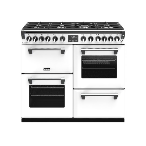Stoves RIDXS1000DFCBIW Richmond Deluxe Range Cooker in Icy White 444410933 Launceston