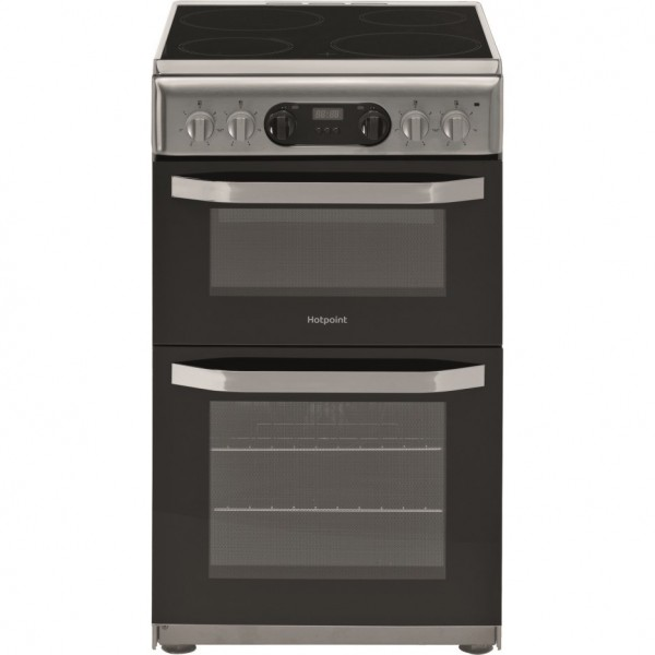 Hotpoint HD5V93CCSS Double Electric Oven Cooker Grill with Ceramic Hob Launceston