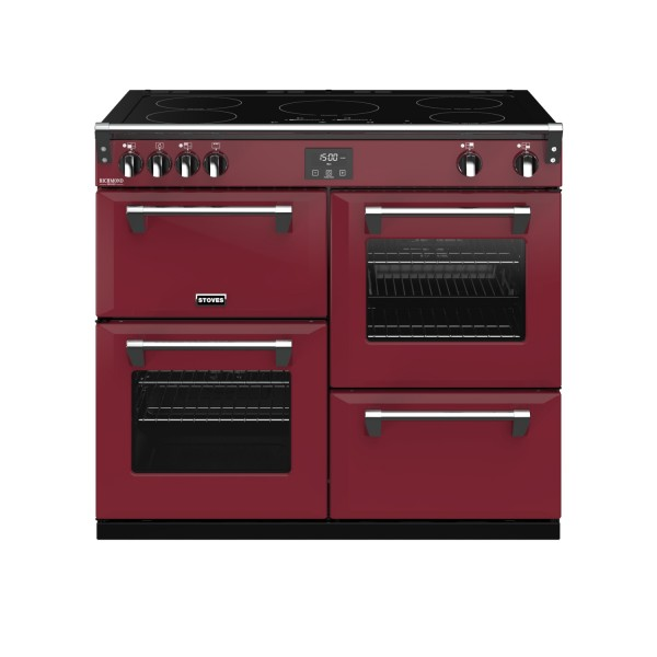Stoves RIDXS1000EICBCR Richmond Deluxe Electric Range Cooker in Chilli Red 444410955 Launceston