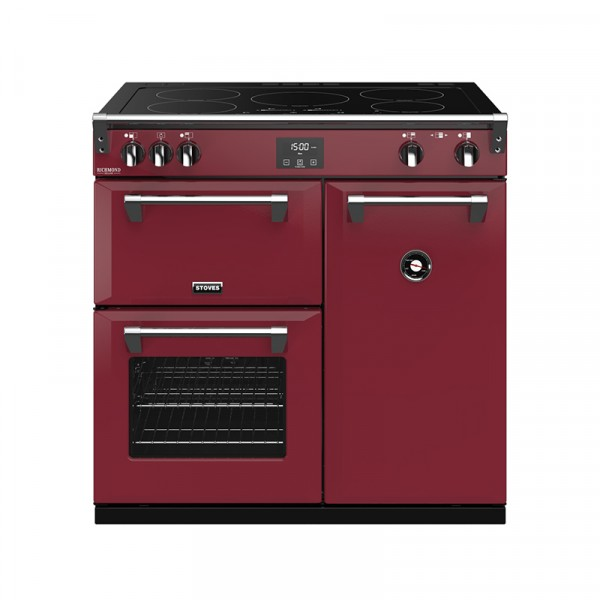 Stoves DXS900EICBCRE Richmond Deluxe Electric Range Cooker Chilli Red 444410919