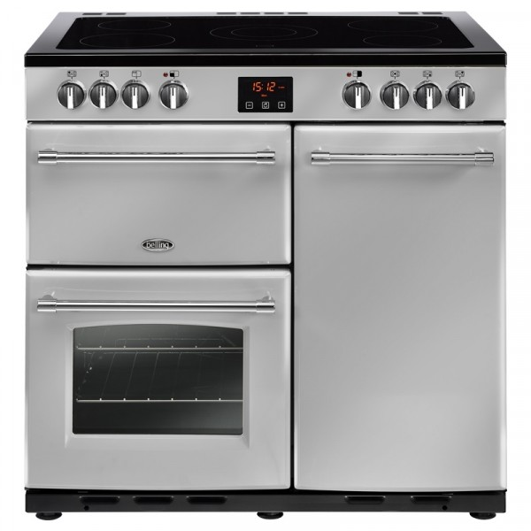 Belling Farmhouse 90e 90cm Range Cooker In Silver 444444125
