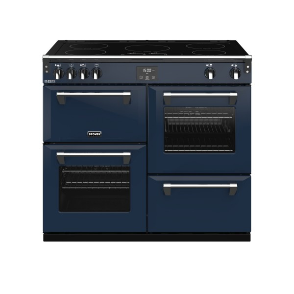 Stoves RIDXS1000EICBMB Richmond Deluxe Electric Range Cooker in Midnight Blue 444410956 Launceston