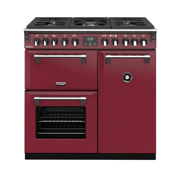 Stoves RIDXS900DFCBCR Richmond Deluxe Range Cooker in Chilli Red 444410901 Launceston