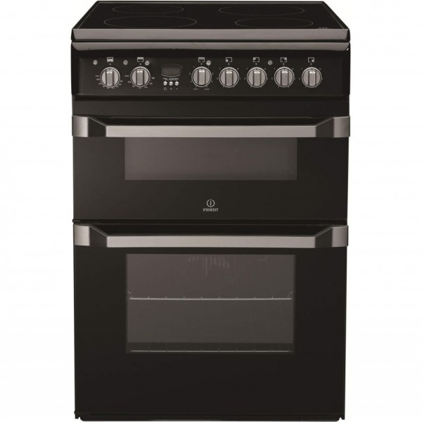 Indesit ID60C2K Double Oven Electric Cooker with Ceramic Hob Launceston