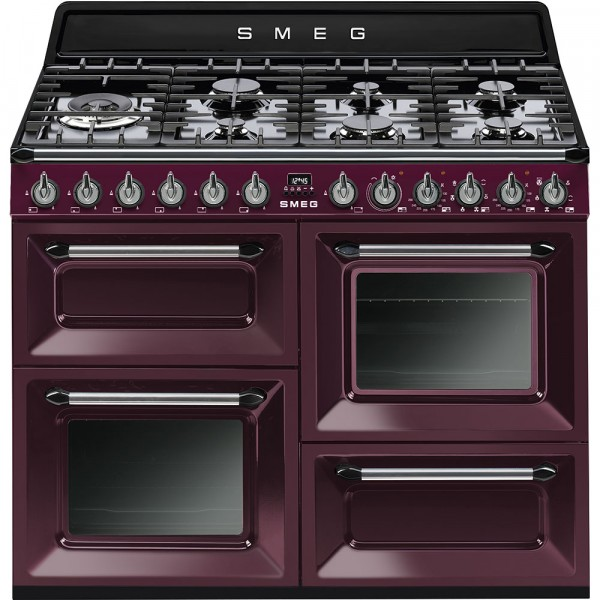 Smeg Range Cooker TR4110RW1 In Red Wine