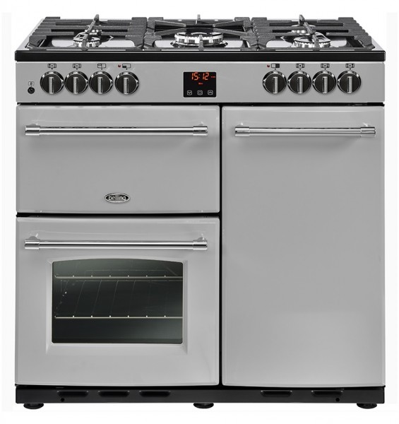 Belling Farmhouse 90DFT 90cm Silver Dual Fuel Range Cooker 444444122