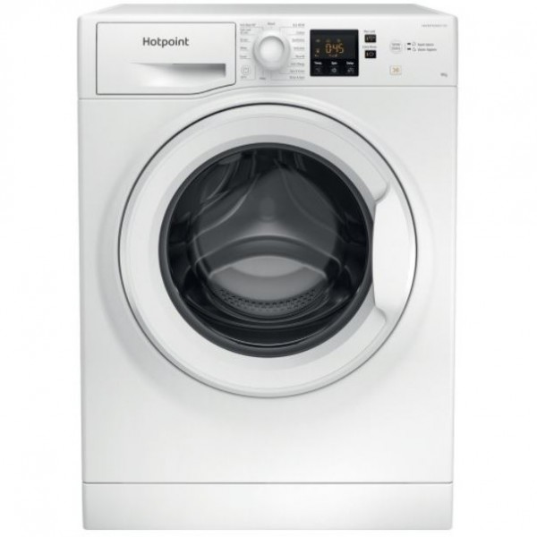 Hotpoint NSWF943CWUKN 9kg 1400 spin, Digit Plus,Anti Stain 40,Full Load 45,Steam Hygiene