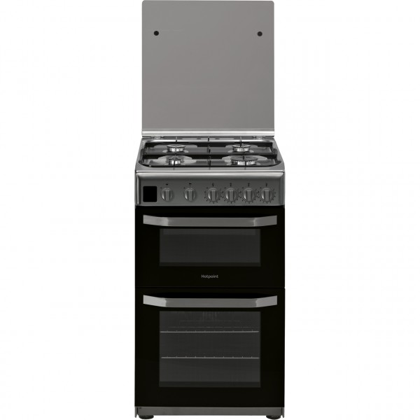 Hotpoint HD5G00CCX 50cm Gas Cooker with Full Width Gas Grill - Stainless Steel - A Rated