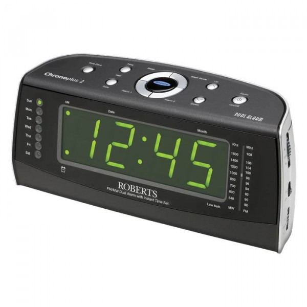 Roberts CHRONO PLUS2 Fm/mw Clock Radio