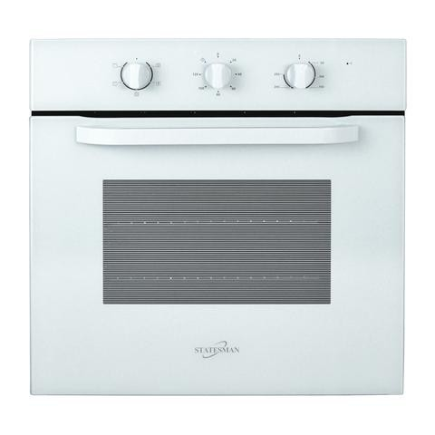 Statesman BSF60WH White Oven Single