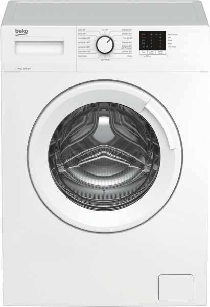 Beko WTK82041W 8kg 1200 Spin Washing Machine - White - A+++