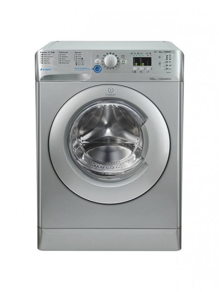 Indesit BWA81483XSUK 1400spin 7kg Load Silver Washer